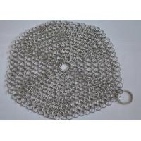 "4""*4"" Rectangle Chainmail Cast Iron Pan Scrubber For Clean Cookware , Food Grade"