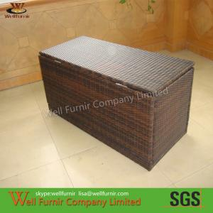 China Brown KD Wicker Storage Boxes For Living Room on sale