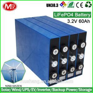 China 60 volt lithium battery Cell Rechargeable Lithium Battery For Electric Car 3.2V 60Ah on sale