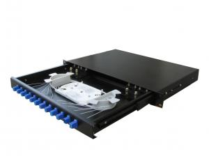 China Slidable Rack mount Fiber Optic Terminal Box , Fiber Optic Patch Panel 12 / 24core on sale