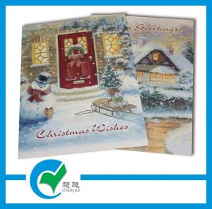 China Christmas Wishes / Winter Greeting Card Stock Paper Printing for Holiday Kindly Greeting on sale