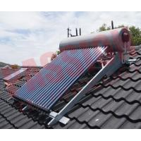 China Integrated Pressurized Rooftop Solar Water Heater Silver Steel Outer Tank on sale