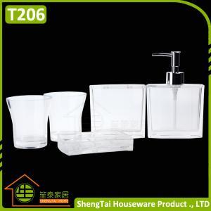 China Elegant European Design Popular White Transparent Bath Gift Set on sale