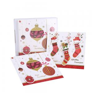China Factory Directly Merry Christmas Greeting Card with Envelope Packed in PVC / PET Box on sale