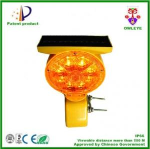 China Barricade/post/fence road safety led solar magnetic beacon lights on sale
