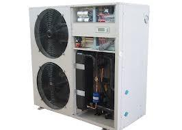 China Bset Eco friendly high efficiency air source cooled heat pump with stainless steel cabinet on sale