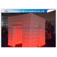 China Popular Oxford Material Square Inflatable Photo Booth Kiosk Tent With Led on sale