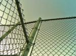 Сверхмощная загородка звена цепи стального провода зеленого цвета 6005 9гауге 50кс50мм рал с расчалкой для загородки шоссе