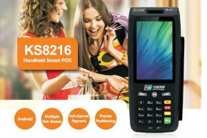 China KS 8216 Android Handheld Smart POS Payment Terminal , Smart Handheld Terminal on sale