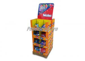 China 4 PDQ Stacked Cardboard Dump Bins Recyclable for Twizzlers Candies on sale