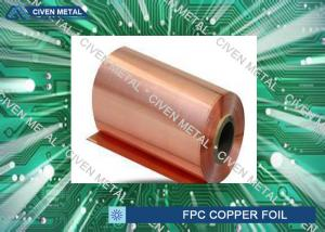 China High density Single Shiny Treated  RA Cu Foil For PCB , Fine Circuit FPC on sale