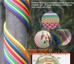 Children develop amusement projects supporting braided rope, for weaving various promotional instruments and others