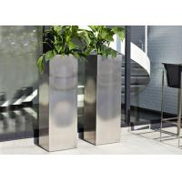 Mirror Polished Stainless Steel Garden Containers , Stainless Steel Plant Pots