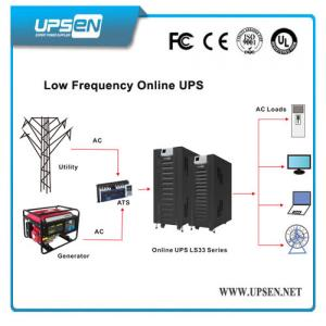 China Low Frequency LCD/LED display 3 phase Online 10-80 kva UPS with Isolation Transformer on sale