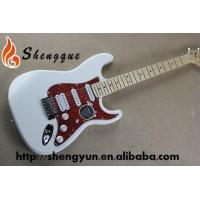 China ShengQue White Color Electric Guitar ST Style Guitar Custom Made Guitars on sale