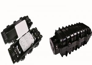 China Black Horizontal Screw Fiber Optic Splice Enclosure Max. 96 Cores 3 In 3 Out supplier
