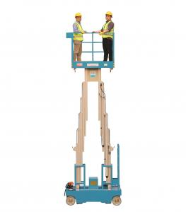 China 10m working height Self propelled Dual Mast aluminum plataforma elevadora manlift aerial work platform on sale