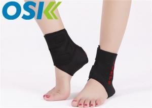 China Unisex Self Heating Tourmaline Neoprene Ankle Brace Customized Logo Free Size on sale
