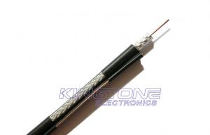 China PE Jacket with Steel Messenger RG6 CATV Coaxial Cable 18AWG CCS  for Outdoor supplier