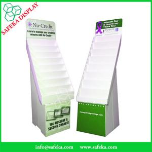 China China Manufacturer Paper material cardboard stands corrugated flooring display rack with tiers for greeting card on sale