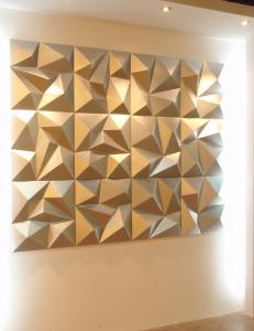 ... Quality Noiseproof PU 3D Decorative Wall Panel For Hotel / Living Room  For Sale ...