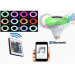 China ABS 6000K RGB 3.0 Version Bluetooth Music Light Bulb With 24 Keys Remote Control wholesale