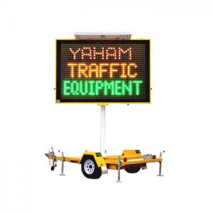 China Dual Full Matrix Portable Road Signs , Led Moving Message With Optical Lens on sale