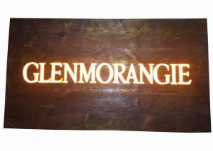 China Custom Resin Illuminated Wooden Signs Wall Mounted Personalized Bar Signs on sale