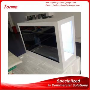 China 65 inchtransparent advertising screen with touch screen,lcd advertising display on sale