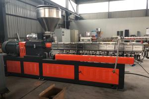China Bottles PET pelletizing granulator recycle machine twin screw extruder on sale