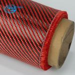 1st Quality Carbon Kevlar Hybrid Fabric 50 width,Kevlar aramid fiber red fabric