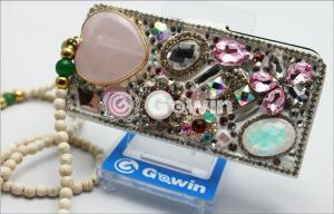 China 3D Swarovski Diamond mobile phone case , Wearproof and Lightweight on sale