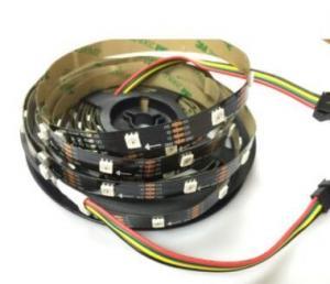 China Addressable 5050 RGB Colour Changing Led Lights Strips High Lumen Apa107 30LEDs/m on sale