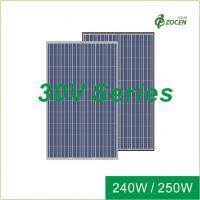White PET Silicone Sealant Polycrystalline Solar Module  240W 245W 250W