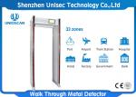 33 Zones Walk Through Safety Gate Or Airport / Metal Bomb Detector Gate