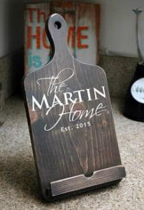 China Cookbook Stand , Tablet Stand, Ipad Holder ,  Farmhouse Kitchen Decor , Housewarming Gift , Wedding on sale