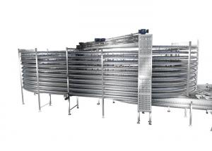 China Electric Round Food Cooling Conveyor Croissant Frozen Cooling Tower Machine on sale