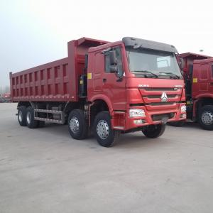 China ZZ3317N3867 12 Wheels Dump Tipper Trucks With 371HP Euro 2 Red Color on sale