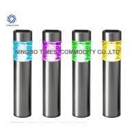 Outdoor Solar Bollard Lights Color Changing Metal Solar LED Tube Lights