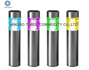 China Outdoor Solar Bollard Lights Color Changing Metal Solar LED Tube Lights on sale