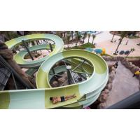 Water Park Construct Fiberglass Open Spiral Sports Playground Equipment Slide For Adult