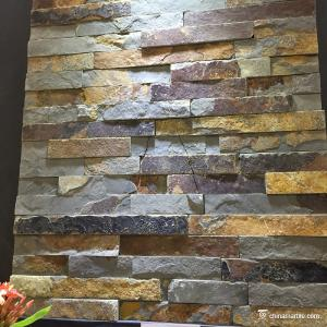 China Natural Stone Rust Slate Mini Panel For Wall Cladding High Temperature Resistance on sale