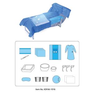 China Hospital Material Disposable Sterile Dressing Packs With Gloves on sale