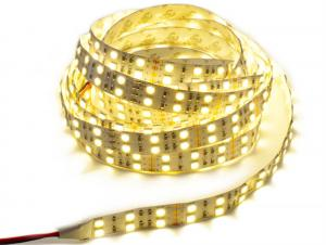 China Warm White Flexible SMD 5050 LED Strip Light Double Row 2X60LEDs Non Waterproof on sale