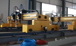 China Chama do CNC dos pórtico e máquina de corte dobro do plasma com fonte de energia de HYPERTHEM on sale