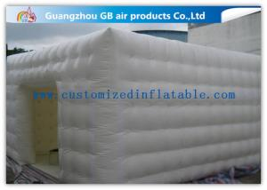 China Double Stitching Whiten Inflatable Lawn Tent With Cube Bubble / Square Structure on sale