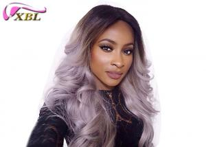 China Soft 8A Grey Curly Hair Weave Body Wave Cambodian Bundles Without Split on sale