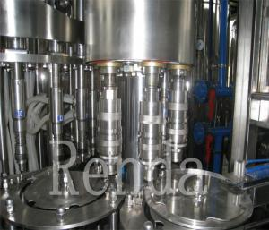 China la máquina de rellenar carbonatada 2000ml de la bebida para la energía bebe la capsuladora del llenador del limpiabotellas on sale