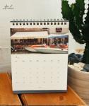 Glossy Paper Landscape Custom Calendar Printing for Office