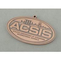 Athletic International Schools Die Cast Medals , Antique Copper Plating 3.5 Inch Medal